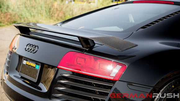 Wing 2nd Gen Style For Audi R8 2007-2015 In Carbon Fiber Or Fiberglass For The Coupe And Spyder