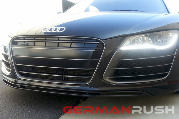 Front Splitter GT Style for Audi R8 2007-2015 in Carbon Fiber or Fiberglass