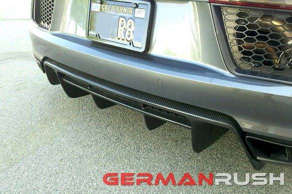 Rear Diffuser for Audi R8 2016-2018 in Carbon Fiber or Fiberglass