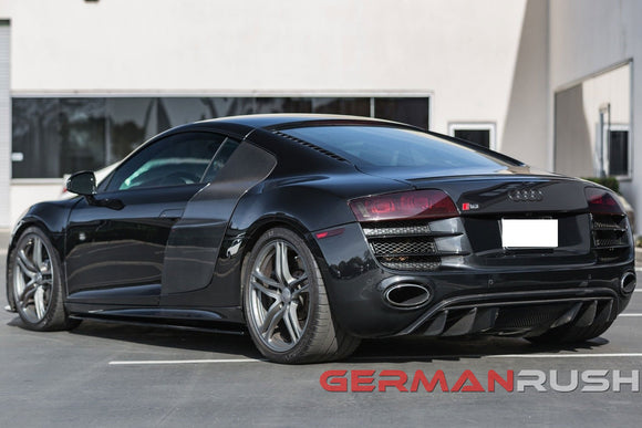 Rear Diffuser V10 Style with fins for Audi R8 2009-2012 in Carbon Fiber or Fiberglass