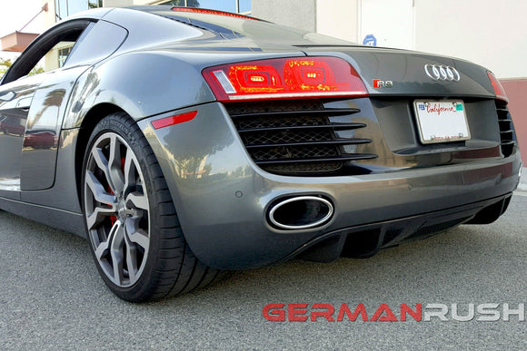 Rear Diffuser V8 Style for Audi R8 2007-2012 in Carbon Fiber or Fiberglass