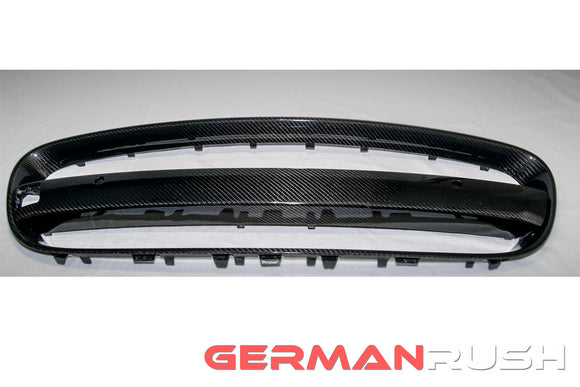 Grill Frame and License Plate Bar Kit Carbon Fiber Jaguar F-Type 2014-2016