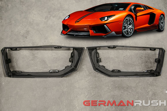 Front Bumper Air Intake Finishers for Lamborghini Aventador in Carbon Fiber by GR