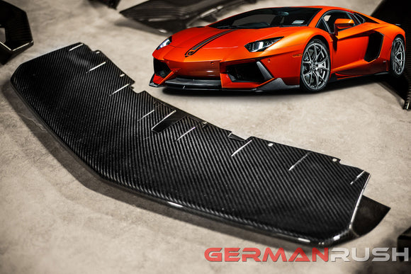 Front Bumper Splitter for Lamborghini Aventador in Carbon Fiber by GR