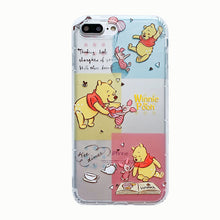 Load image into Gallery viewer, Cartoon Clear Phone Case For iPhone 7 8 Plus XS MAX XR Cute Anti-knock Soft TPU Phone Cover For iPhone X 6 6S Plus Coque Fundas