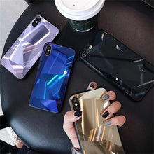 Load image into Gallery viewer, JAMULAR 3D Diamond Pattern Mirror Case For iPhone XS MAX XR 7 X 6 6s 8 Plus Shining Hard Back Cover For iPhone XS Slim Coque