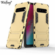 Load image into Gallery viewer, Wolfsay Cover For Samsung Galaxy S10 5G Case Slim PC + Soft Rubber Armor Phone Case For Samsung S10 5G Cover Galaxy S10 Fundas