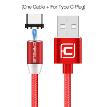 Load image into Gallery viewer, Cafele LED Magnetic USB Cable Type C Phone Cable for Samsung Note 9 Magnetic Charging Cable USB Type C Magnet Wire 100cm/ 200cm