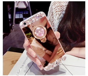 Hot Bling Mirror Case for Huawei P10 P20 Lite P30 Pro P9 P8 Lite 2017 Honor 10 9 Lite P Smart 2019 Glitter Crystal Coque Fundas