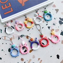 Load image into Gallery viewer, Universal Silicone Lanyard For Keys Phones Strap for iPhone 7 Plus 8 6S Keycord Lanyards Finger Rings Mobile Phone Accessories