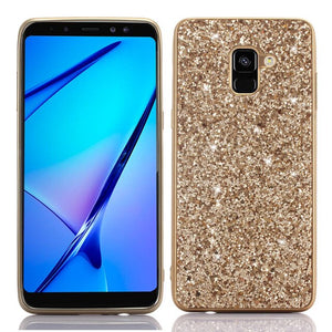 Q UNCLE Bling Glitter Soft Silicon Mobile Phone Case  For Samsung Galaxy J4 J6 A6 A8 S9 Plus J8 A7 A9 2018 J7 Neo J5 J3 A5