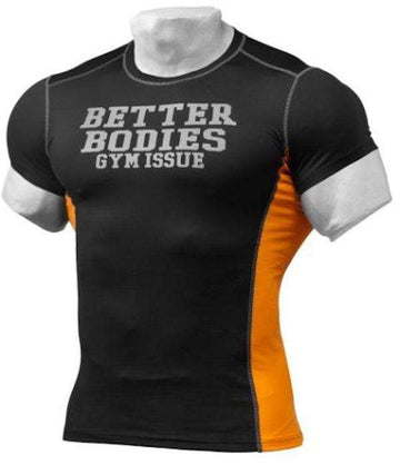 Better Bodies Tight Fit Tee Black / Orange