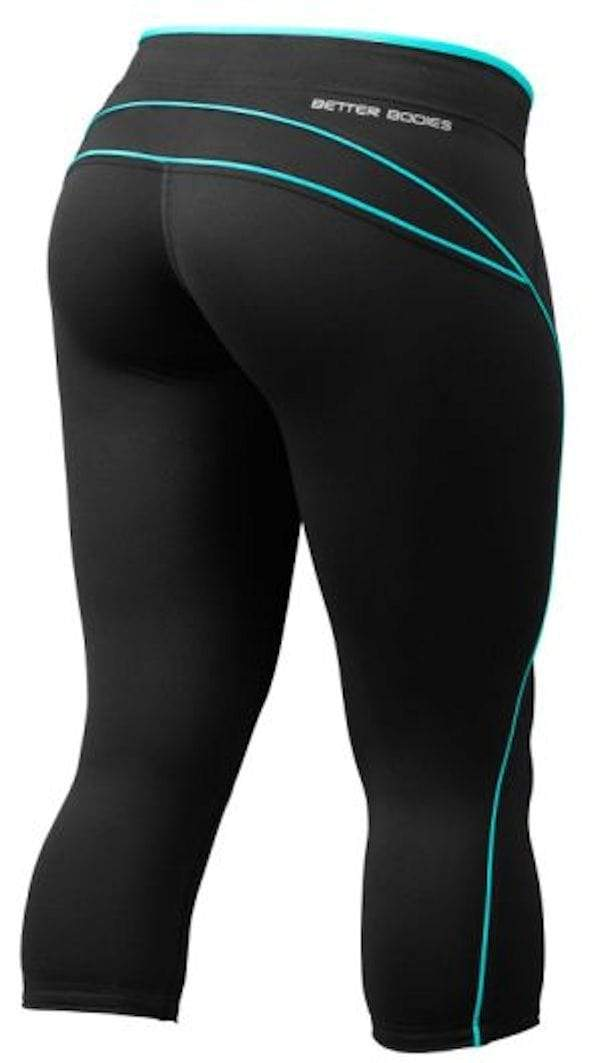 Better Bodies Women's Clothing Better Bodies Shaped 3/4 Tights Black/Aqua (code: 20off)