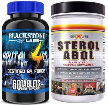 Blackstone Labs Brutal 4ce and GenXLabs SterolABOL Stack