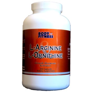 Body & Fitness L-Arginine & L-Ornithine 750 mg 250 cap BLOWOUT