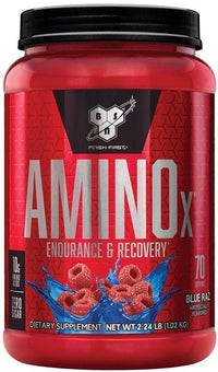 BSN BCAA orange strawberry BSN AminoX 70 servings