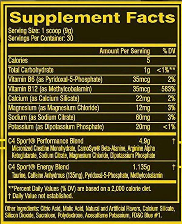 Cellucor Muscle Pumps WATERMELON Cellucor C4 Sport 30 servings