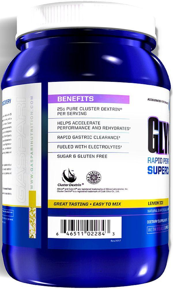 Gaspari Nutrition Pre-Workout Lemon Ice Gaspari Nutrition GlycoFuse 60 servings
