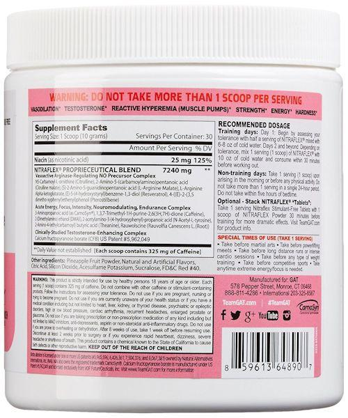 GAT Sports Muscle Pumps Pink Lemonade GAT Sports Nitraflex 30 servings