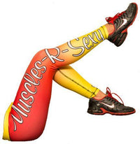 GenXLabs Accessories Clothing Yellow - Orange -Red / X-Small GenXlabs Active Print Legging Muscles-R-Sexy