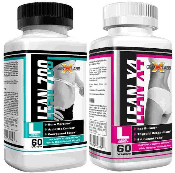 GenXLabs Fat Burner GenXLabs Lean 700 and LeanX4 AM and PM Weight Loss