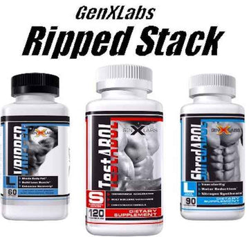 GenXLabs Ripped Stack V-Ripped, ShredABOL,TestABOL (bundle deal)