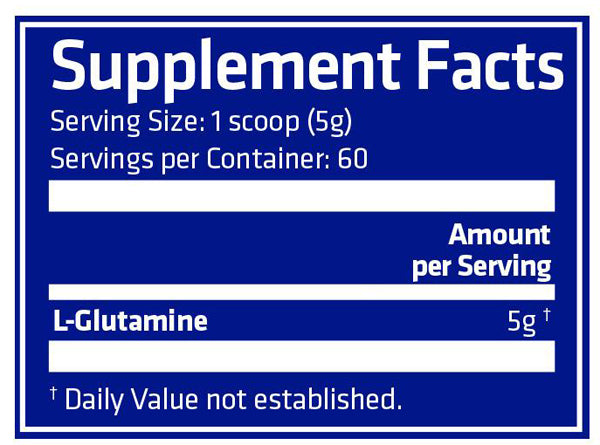 USN Pure Glutamine fact
