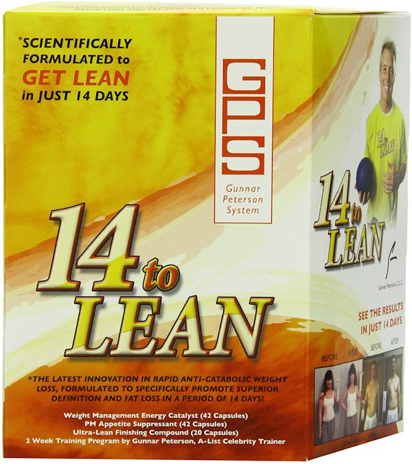 Free Gunnar Peterson 14 to Lean FREE with any Weight Loss Purchase (code: 14)