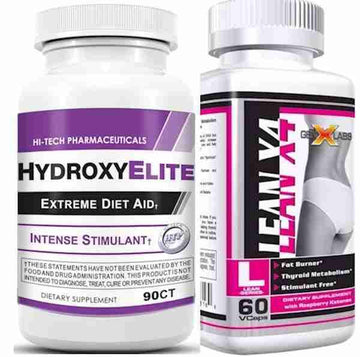 Hi-Tech Pharmaceuticals HydroxyElite w/Free GenXLabs LeanX4 Fat Burner