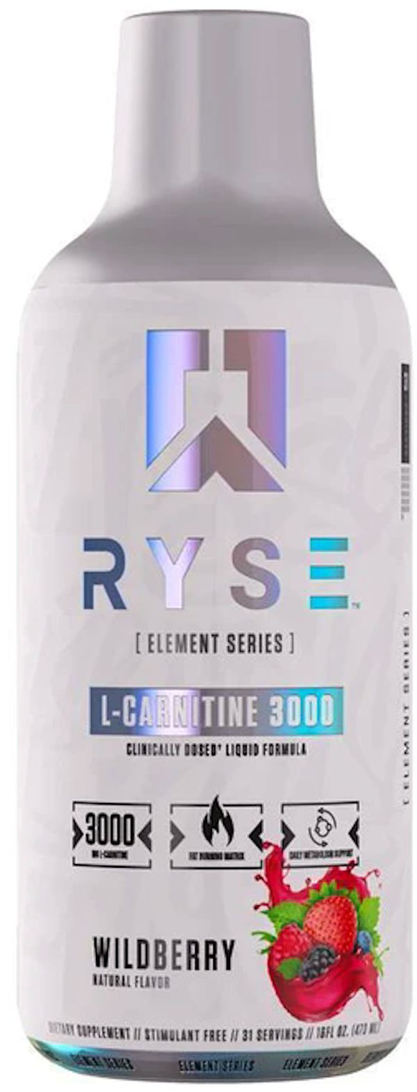 Ryse Supplements Liquid L-Carnitine 3000 31 servings