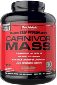 MuscleMeds Protein Strawberry MuscleMeds Carnivor Mass Beef Protein 6 Lbs