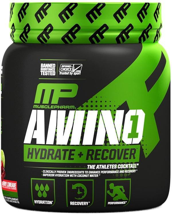 MusclePharm BCAA Cherry Limeade MusclePharm Amino 1  Hydrate + Recover