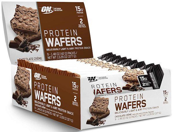 Optimum Nutrition Protein Bars Chocolate Creme Optimum Nutrition Protein Wafers 9 ct box