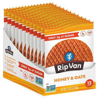 Rip Van Wafels Protein Bars, Cookie and Food HONEY AND OAT Rip Van Wafels WAFELS 12 pack