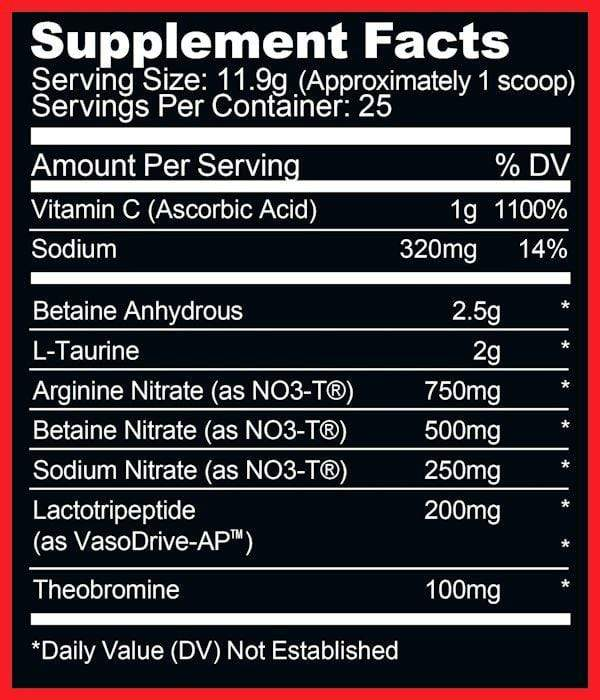 Ryse Supplements NO3 Ryse Supplements Blackout Pump 25 servings