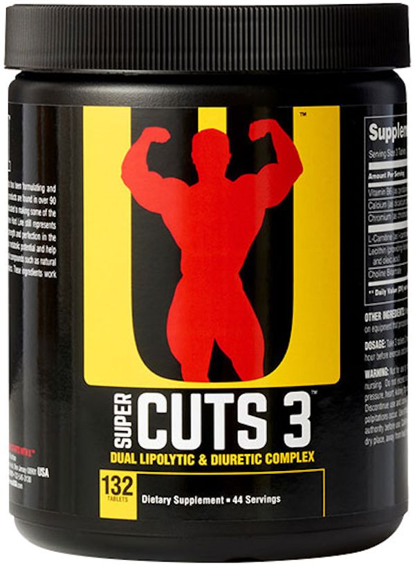 Universal Nutrition Super Cuts 3 Fat Burner