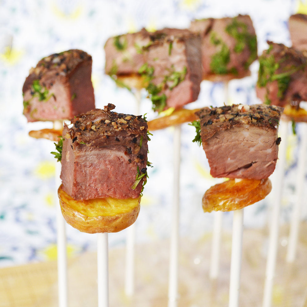 Steak and Potatoes Lollipops