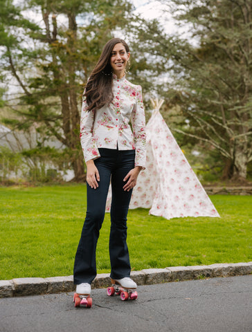 Floral Patterned Tent with Matching Sargent pepper style blazer jacket