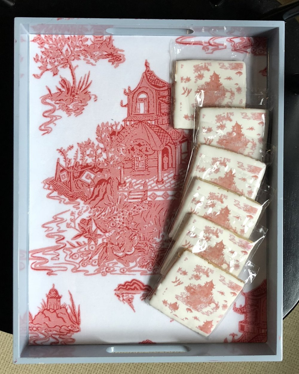 Toile red Chinoiserie cookies one kings lane