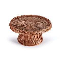 Wicker Cake Stand to display Easter desserts, eggs, and decorations