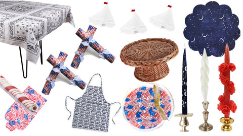 july 4 hosting tablescape collage