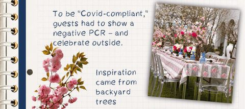 """To be """"Covid-compliant,"""" guests had to show a negative PCR – and celebrate outside."""