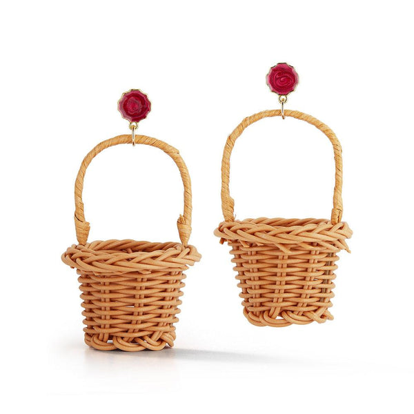 Big Basket Earrings Basket Chefanie