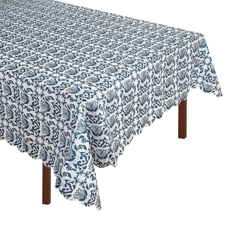 Blue & White Tablecloth