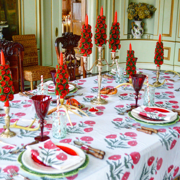 Red Poppy Tablecloth - Chefanie