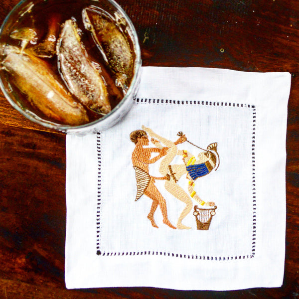Egyptian Love Cocktail Napkins, Set of 4 Chefanie