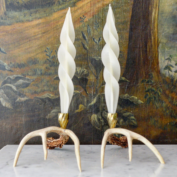 White Feather Candles (2) Chefanie