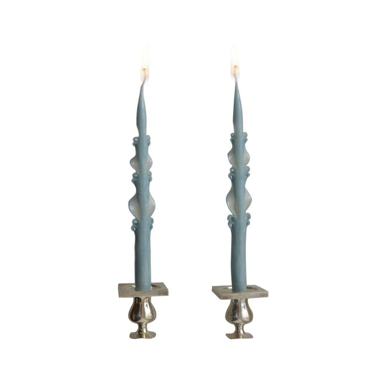 Baby Blue Baroque Tapers (2) Chefanie