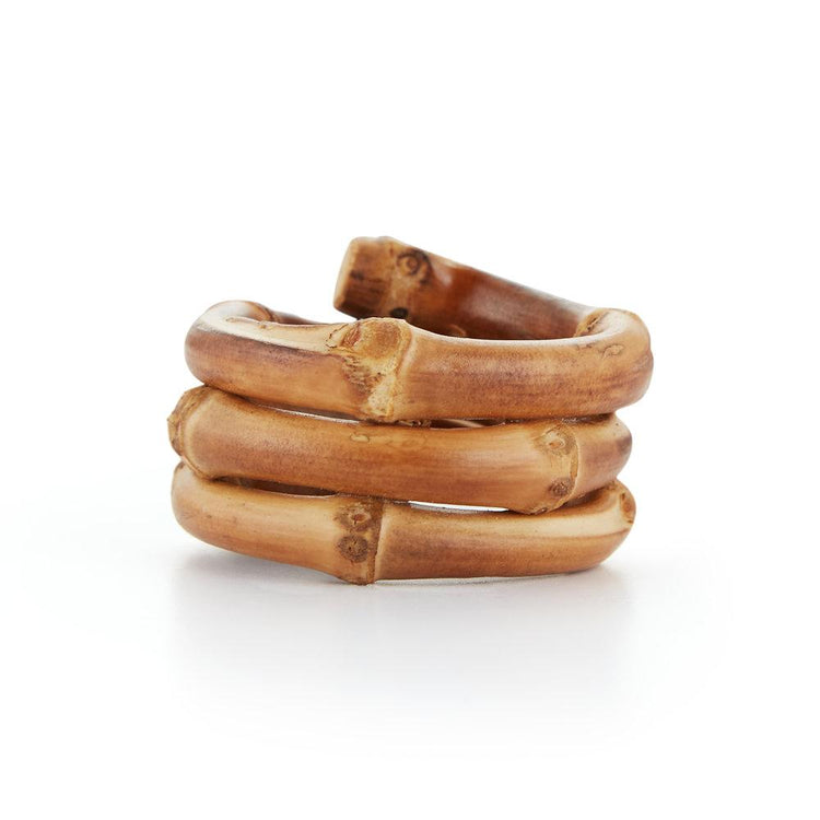 Bamboo Napkin Ring, Set of 4