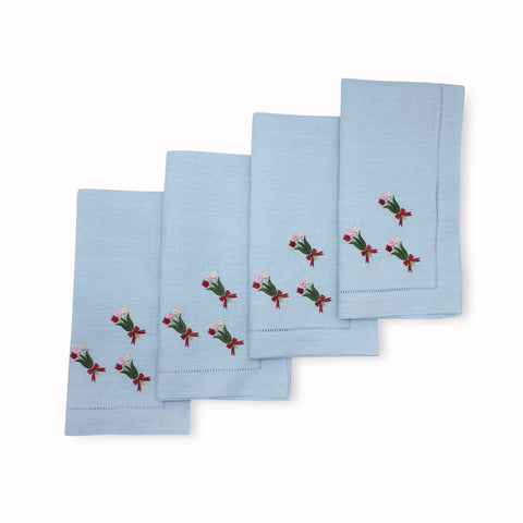 Tulip Bouquet Dinner Napkins (4)